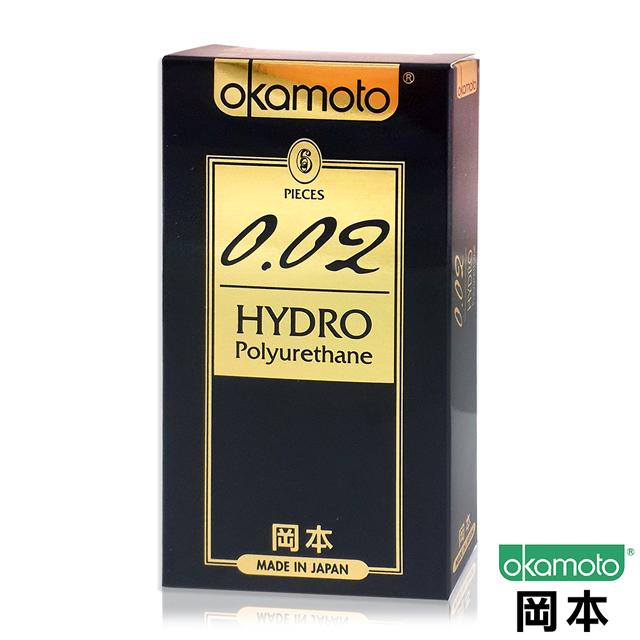 岡本002 HYDRO水感勁薄保險套(6入)